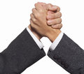 Handshake businessmen two on white Stock Photos