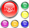 Handshake Button Royalty Free Stock Photo