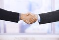 Handshake in closeup Royalty Free Stock Photo