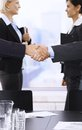 Handshake in focus Royalty Free Stock Photography