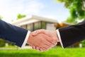 Handshake On House Outdoor Bac...