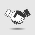 Handshake icon black design with Stock Photo
