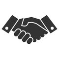 Handshake icon black and white Royalty Free Stock Images