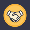 Handshake icon, deal, partnership, shaking hands