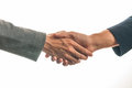 Handshake isolated on white two businessmen shaking hands against a background Stock Photography