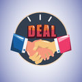 Handshake. making a deal - Royalty Free Stock Photo