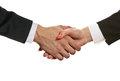 Handshake partners Stock Photos