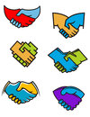 Handshake symbols and icons Royalty Free Stock Photography