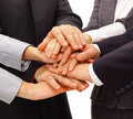 Handshake and teamwork Royalty Free Stock Photo
