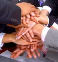Handshake and teamwork Royalty Free Stock Images
