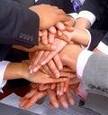 Handshake and teamwork Royalty Free Stock Photo