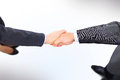 Handshake of the two businessmen Royalty Free Stock Photo