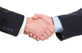 Handshake of two businessmen on a white background Royalty Free Stock Photography