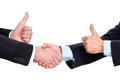 Handshake of two businessmen on a white background Royalty Free Stock Photos