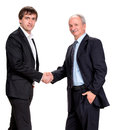 Handshake of two businessmen on a white background Royalty Free Stock Images