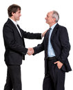 Handshake of two businessmen on a white background Royalty Free Stock Photo
