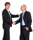 Handshake of two businessmen on a white background Royalty Free Stock Image