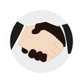Handshake Of Two Men. Vector I...