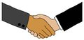 Handshake two people shake hands representing diversity Royalty Free Stock Photos