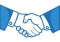 Handshake between two persons illustration Stock Photo