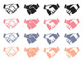 Handshake Vector Icon Set