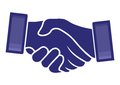 Handshake vector illustration of the Stock Images