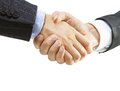 Handshake on a white background Royalty Free Stock Photo