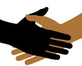 The handshake on white background vector Stock Image