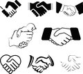 Handshakes illustration of is isolated on white background created in illustrator software Stock Photo