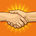 Handshaking shaking hands friendship and a good business deal Royalty Free Stock Image