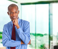 Handsome African businessman Stock Photos