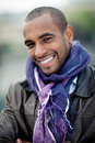 Handsome black man with scarf Royalty Free Stock Image