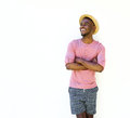 Handsome black man in summer wear Royalty Free Stock Photo
