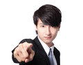 Handsome business man pointing at you Royalty Free Stock Photography