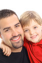Handsome father and son angle Royalty Free Stock Photo