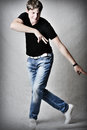 Handsome man dancing Royalty Free Stock Photos