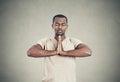 Handsome man doing yoga Royalty Free Stock Photo