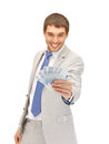 Handsome man with euro cash money picture of Stock Photo
