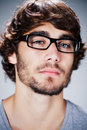 Handsome man with glasses Stock Photography