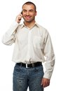 Handsome man with mobile phone Stock Photo