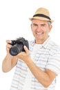 Handsome man taking picture Royalty Free Stock Photo
