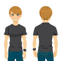 Handsome Man Tshirt Royalty Free Stock Photography