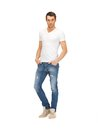 Handsome man in  white shirt Royalty Free Stock Image