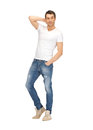Handsome man in white shirt bright picture of Stock Photos