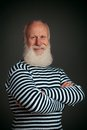 Handsome sailor isolated seaman on black background Stock Image