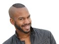Handsome young african american male model smiling Royalty Free Stock Photo