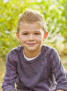 Handsome Young Boy Portrait Stock Photography