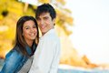 Handsome young couple at seaside. Royalty Free Stock Photos