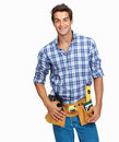 Handsome young handyman Stock Images