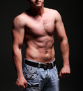 Handsome young muscleman Stock Images